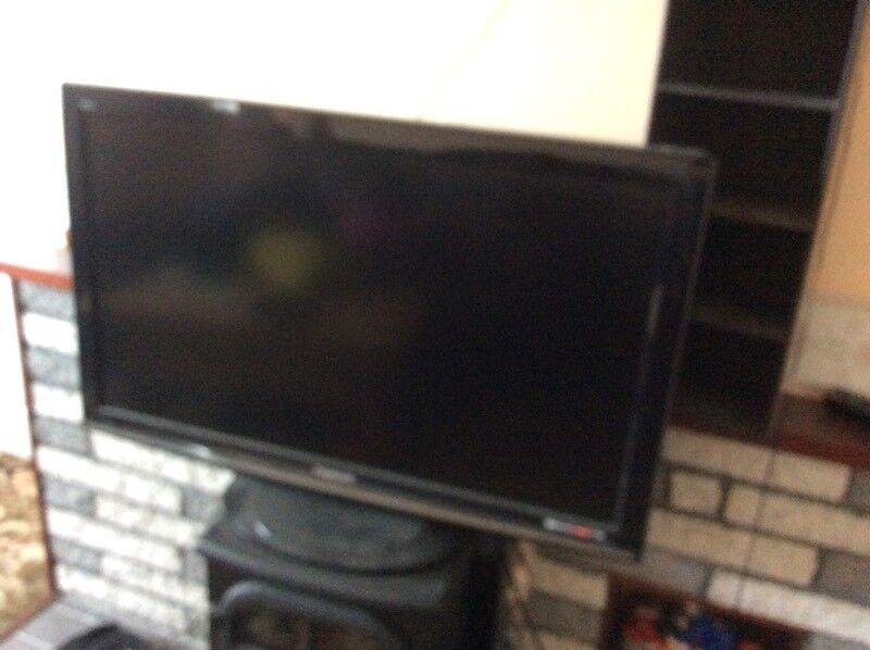 Large flat-screen TV