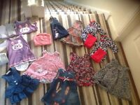 Gorgeous baby girl clothing bundle Next Mothercare Blue Zoo 3-6 months perfect condition 18 items
