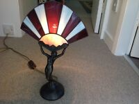 Stained Glass Reproduction Art Deco Table Lamp