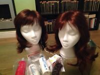 Pair of ladies wigs