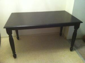 Black dining table - great condition - $40 obo