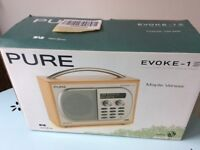 Pure Evoke-1S DAB radio for parts only