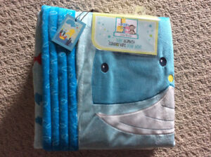 BNWT little miracles sea life themed baby blanket