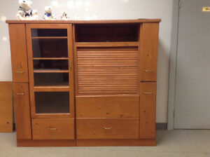 Wood Crafted Entertainment Centre for your Den or Rec Room