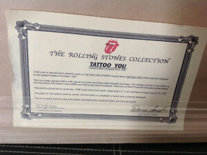 "Rolling Stones Framed ""Tattoo You"" Numbered Lithograph Poster Oakville / Halton Region Toronto (GTA) image 2"