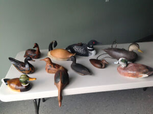 Carved Ducks Wood Decoys