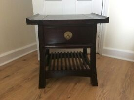 Chinese rosewood sideboard and two side tables