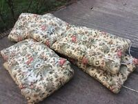 Set of 3 sun lounger cushions I Excellent condition can post