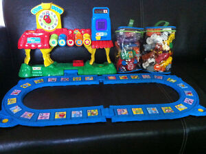 VTECH SMARTVILLE ALPHABET TRAIN STATION PLUS PUZZLES USED