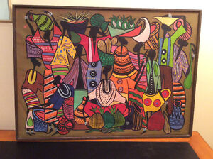 "AFRICAN. ART..""FRANCOIS THANGO""..original oil on canvas"