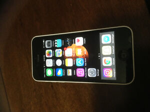 Gently Used iPhone 5c - white - 8GB