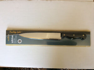 BNIB: WILTSHIRE FINE EDGE GOLD STAINLESS STEEL CHEF'S KNIFE