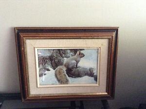 4 solid wood framed animal prints   8.00 each or all 4 for 20.00 Kingston Kingston Area image 3