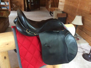 "17.5"" ENGLISH GP SADDLE MADE BY IDEAL, BLACK, XW, GORGEOUS"