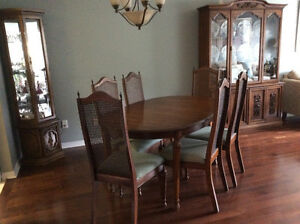 dining room set plus curio cabinet