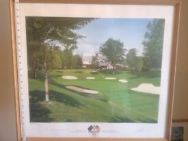 Limited edition golf print of the 1995 Ryder cup at Oak hill