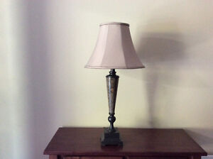 "New Table Lamp. 1 Light with 3-way switch. 34""H. $35"