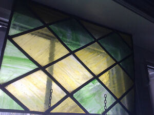 Beautiful green piece of leaded glass