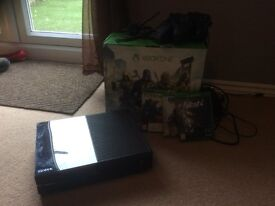 Xbox one with games and 2 controllers