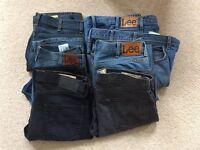 Jeans 34 x 30 7 pair joblot