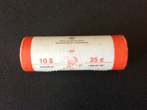 Canada 2007 25 cent coins paper roll Kingston Kingston Area image 2