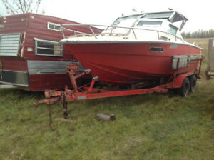 Boat & trailer Ford motor mercury leg