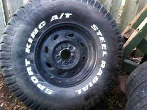 """33 x 12.5 x 15"""" Tire and Rim"""