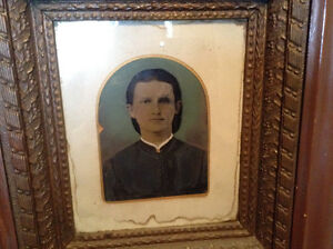 Early 1800's Oil on Sheet of Copper Portrait of a Young Man St. John's Newfoundland image 1