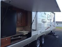 Sunny Brook trailer with outside kitchen