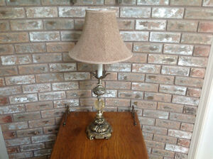 Antique Brass Looking Table Lamp