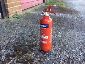 Caravan,Motorhome, fire extinguisher