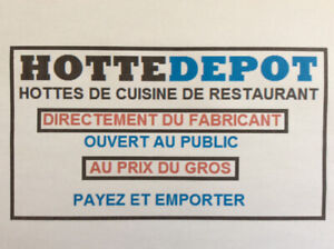 Fabricant Hotte de Restaurant/equipement/equipment