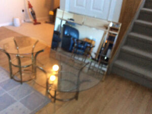 Large mirror and coffee table,end table