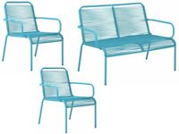 Ipanema 4 Seater Rattan Effect Sofa Chairs only - Blue 311/6410