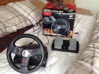 Logitech vibration feedback steering wheel