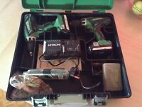 Hitachi 18volt drill set