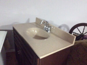 Vanity top and taps  36 x 18