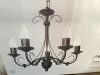 5 candle chandelier, brand new