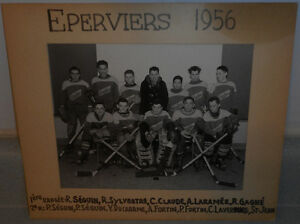 Photo D'equipe , Ecole Larocque de Hull , 1956 ( Eperviers )