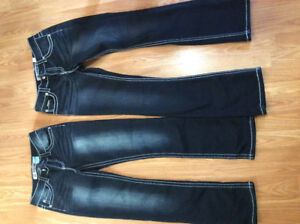 Two pairs of woman's jeans