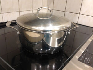 "Stainless steel pot 18/0 made in china ,10"" width x5"" hight"