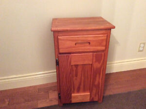 "1/2""Solid Wood Rock Pine Night Table/ Jam Cupboard 16""L, 12""W"