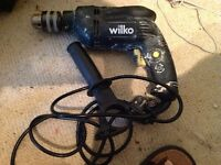 500 w drill. Hammer and screw, wired so no batteries to worry about