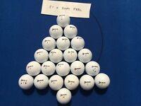 Golf balls, titleist, callaway, srixon, Nike, taylormade