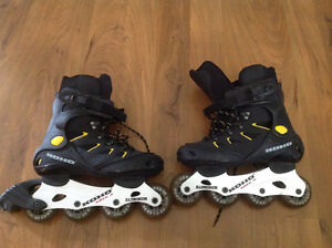 3 pairs of excellent condition roller blades