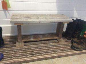 Rustic Bench - made from barn boards