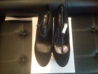 Brand new in box black suede Mary Jane style shoes size 8 more like a 7 £15 ono