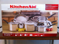 ***KITCHENAID 10 Piece Stainless Steel Cookware Set $140.00***