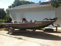 16 Foot Fisher Bass Boat