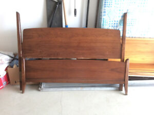 Double bed frame and head and foot board.
